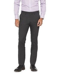 Haggar H26 Slim Fit Suit Pant Charcoal Pinstripe