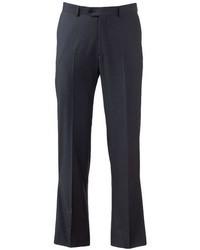 Apt. 9 Slim Fit Shadow Striped Flat Front Charcoal Suit Pants