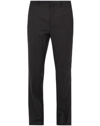 Lanvin Straight Leg Striped Wool Trousers