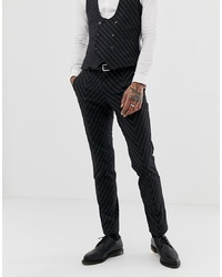 Twisted Tailor Super Skinny Suit Trousers In Cut And Sew Pinstripe