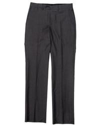 Saint Laurent Yves Pinstripe Wool Pants
