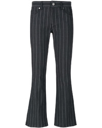 Versace Jeans Pinstripes Flared Jeans