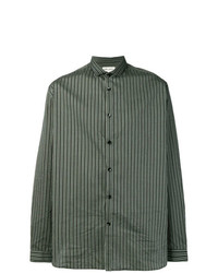 Saint Laurent Striped Long Sleeve Fitted Shirt