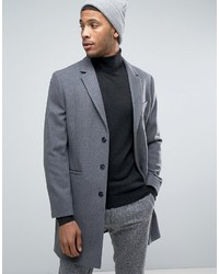 Charcoal Vertical Striped Overcoat