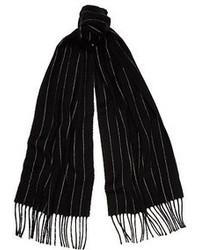 Dark grey stripe blanket scarf medium 95090