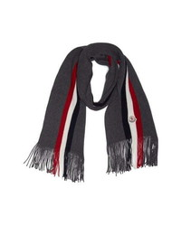 Moncler Stripe Virgin Wool Scarf