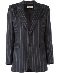 Saint laurent single breasted pinstripe blazer medium 821008