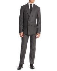 Brunello Cucinelli Flannel Stripe Silk Blend Suit