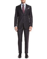 Ermenegildo Zegna Chalk Striped Two Piece Suit Gray