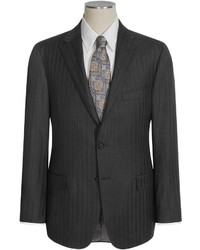 Hickey Freeman Herringbone Stripe Suit