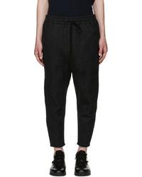Charcoal Vertical Striped Sweatpants