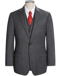 Charcoal Vertical Striped Three Piece Suit