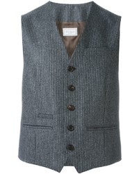 Charcoal Vertical Striped Waistcoat