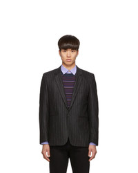 Paul Smith Grey Wool Pinstripe Blazer
