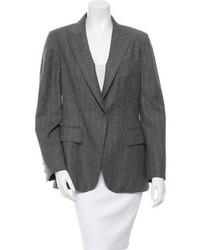 Wool pinstripe blazer medium 1252915
