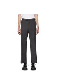 Prada Grey Stripe Mohair Trousers