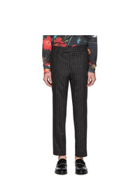 Paul Smith Grey Wool Pinstripes Trousers