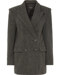 Isabel Marant Jaxen Double Breasted Striped Wool Blend Blazer