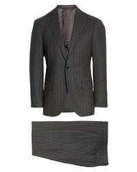 Ring Jacket Balloon Fresco Slim Fit Stripe Wool Suit