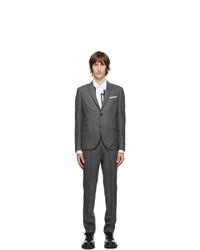 Neil Barrett Grey Light Stripe Wool Suit