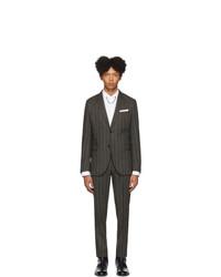 Neil Barrett Grey Pinstripe Suit