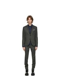 Neil Barrett Grey Twill Stripe Suit