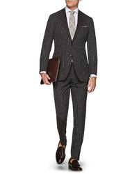 Suitsupply Havana Slim Fit Stripe Wool Travel Suit