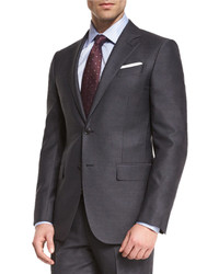 Ermenegildo Zegna Wool Striped Two Piece Suit Charcoal