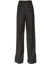 Dolce & Gabbana Pinstripe Cool Wool Wide Leg Pants