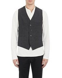 Barena Venezia Plaid Vest Grey