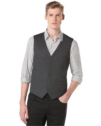 Perry Ellis Big And Tall Subtle Houndstooth Vest
