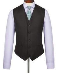 Burlington Charcoal Birdseye Slim Fit Suit Vest