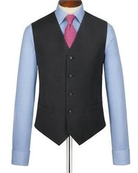 Charles Tyrwhitt Charcoal Clarendon Twill Slim Fit Business Suit Vest