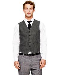 Club Monaco Wool Houndstooth Waistcoat