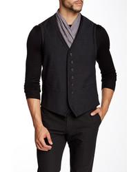 John Varvatos Collection V Neck Wool Vest