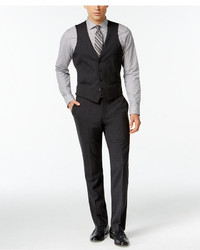 Bar Iii Dark Charcoal Slim Fit Vest