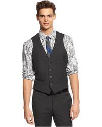 Bar III Dark Charcoal Slim Fit Vest