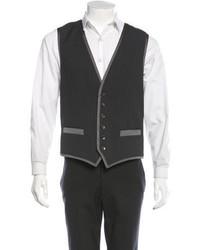 Dolce & Gabbana Dg Twill Paneled Pinstripe Vest W Tags