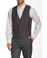 Perry Ellis Gray Sharkskin Five Button Suit Separates Vest