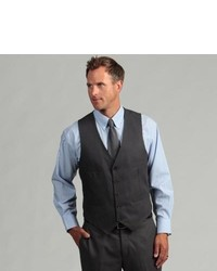 Kenneth Cole Reaction Slim Fit Solid Grey Suit Separate Vest