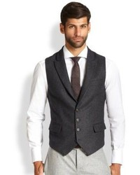 Brunello Cucinelli Peaked Lapel Wool Vest