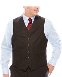 Stafford Stafford Travel Charcoal Suit Vest Big Tall