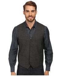 Perry Ellis Textured Chambray Suit Vest