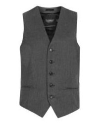 Topman Charcoal Dobby Vest