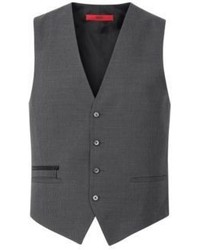 Hugo Boss Wadley Slim Fit Wool Cotton Vest 36r Charcoal