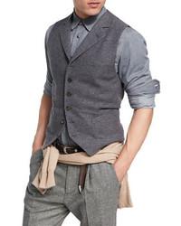 Wool cashmere twill waistcoat medium 3942254