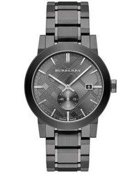 Burberry Check Stamped Stainless Steel Watch