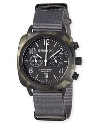 Briston Clubmaster Classic Chronograph Watch Grayblack
