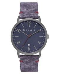 Ted Baker London Daniel Synthetic Strap Watch