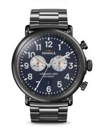 Shinola The Runwell Chrono Bracelet Watch 47mm